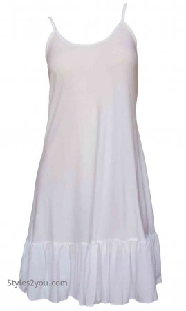 Slip Ruffle Slip Shirt Dress Extender Cream Pretty Angel Slip