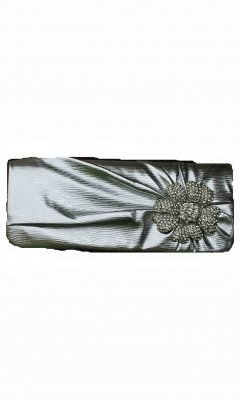 Cafe Handbags & Accessory Rhinestone Clutch Purse In Silver
