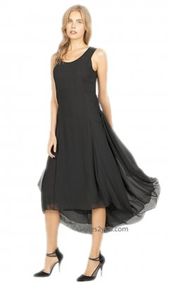 Harper Layered Sleeveless Flowy Dress Black Dress Miilla Dresses