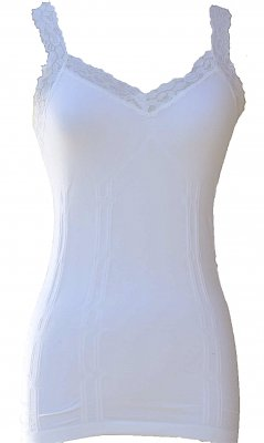 Styles2you Clothing Corset & Lace Undershirt In White
