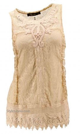 Dana Vintage Victorian Blouse In Peachy Tan
