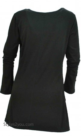 Marcy Jersey Tunic In Black