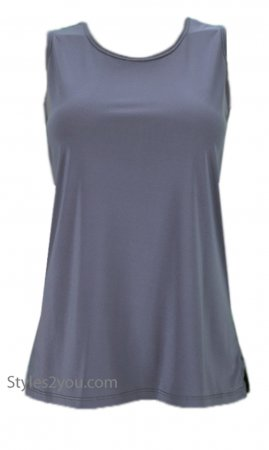 Crown Pretty Woman Plus Size Sleeveless Top Undershirt Gray