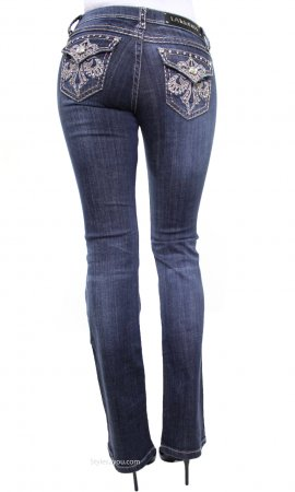Ladies Rhinestone & Embroidered Bootcut Jeans