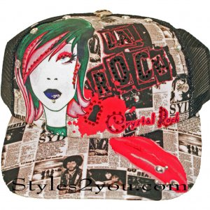 Crystal Rock Piercing And Tattoo Sublimation Baseball Hat