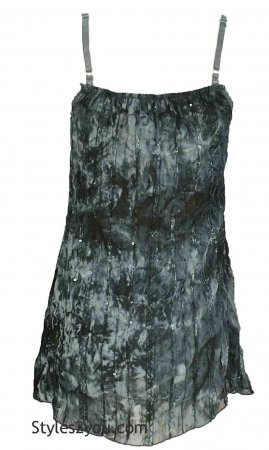 Dorothy Camisole Top In Gray & Black