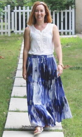 Beth Hippy Boho Bohemian Ladies Cotton Skirt Blue Sacred Threads