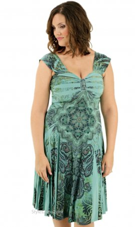 Victoria Ladies All Occasion Dress In Jade Pretty Woman Dresses