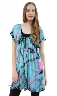 Rosalind Shirt Dress In Aqua Sacred Threads Clothing Apparel
