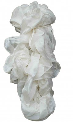 Ladies Dressy Ruffle Scarf In White