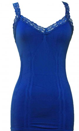Styles2you Clothing Corset & Lace Undershirt In Royal Blue