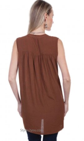 Eastend Sleeveless Front Tie Tunic Scully Honey Creek Collection