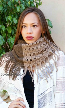 Emily Infinity Scarf In Browns