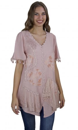 Aliza Vintage Victorian Shirt Dress In Mauve My Pretty Angel