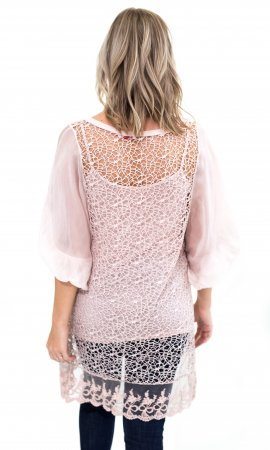 Jaan Ci 3 Piece Tunic In Pink