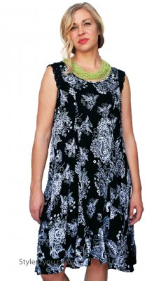 Asha Dress In Black & White