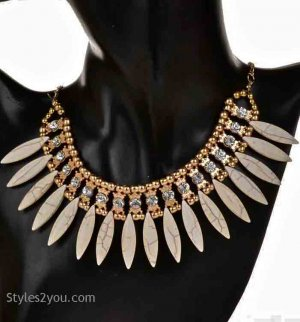 Collar Necklace In Ivory