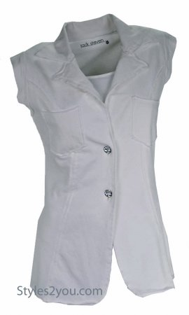 Jack Stevens Clothing Fitted Blazer Vest With Crystal Buttons