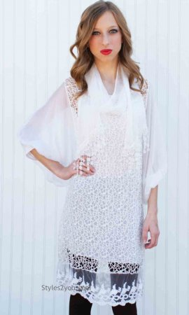Jaan Ci 3 Piece Tunic In White