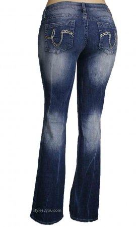 Angie YMI Ladies Bootcut Denim Jeans