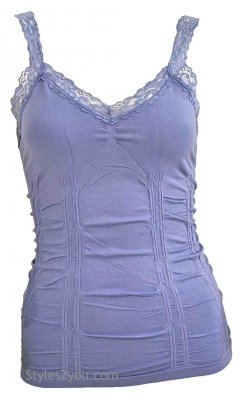 Styles2you Clothing Corset & Lace Undershirt In Lavender