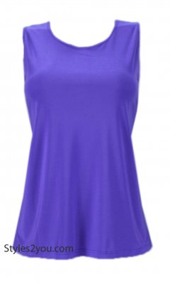 Crown Pretty Woman Plus Size Sleeveless Top Undershirt Purple