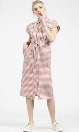 Bentley Short Sleeve Gingham Shirt Dress OR Cardigan Duster