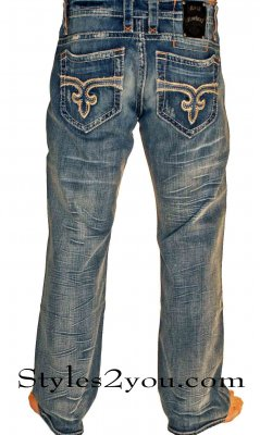 George 02 Straight Leg True Blue Denim Jean