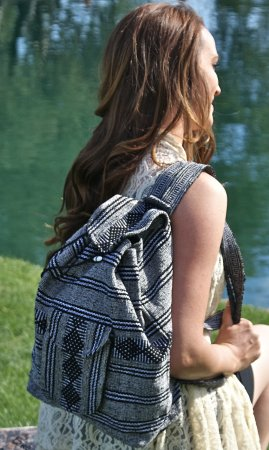 Bohemian Backpack In Black & White
