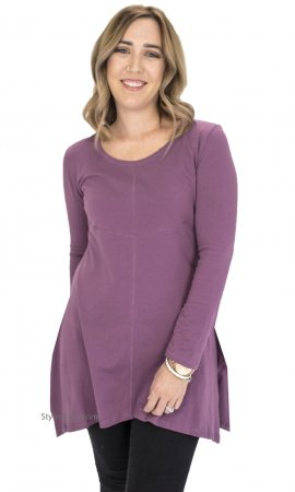 Betsy Ladies Bohemian Shirt Dress In Mauve