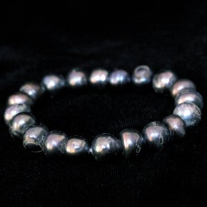 "7"" Stretch Pearl Bracelet In All Blue"