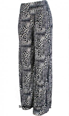 Paige Palazzo Pant In Black Animal Print