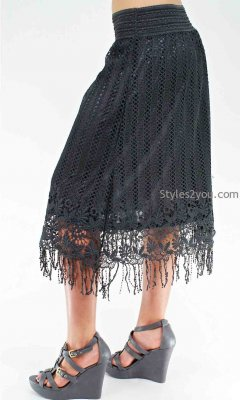 Clara Modern Vintage Skirt In Black Pretty Angel Vintage Skirts