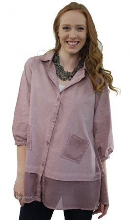 Nettie Ladies Oversized Shirt Dress Cardigan Mauve Pretty Angel