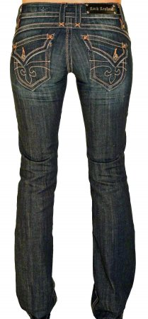 Gwen Ladies Denim Jeans With Slanted Pockets Rock Revival Jeans