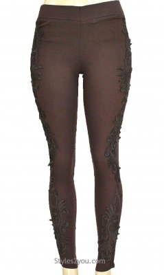 Lucy Lacey Pant Legging In Coffee Pretty Angel Clothing