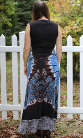Baltimore Ladies Bohemian Night Owl Tie Dyed Maxi Dress