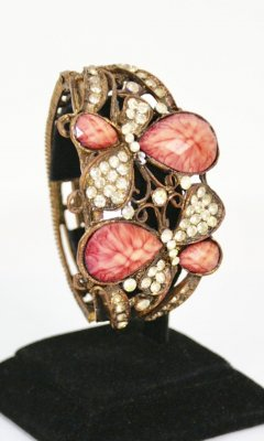 Ladies Vintage Rhinestone Bracelet In Mauves