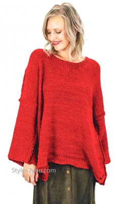 Auburn Super Cozy Oversized Chunky Knit Sweater In Scarlett