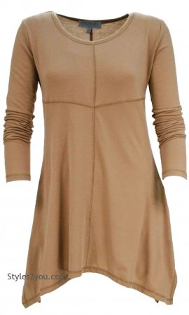 Betsy Bohemian Shirt Dress In Brown, Pretty Angel Clothing