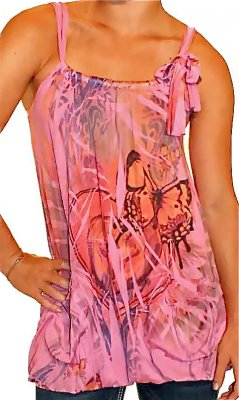 Butterfly And Flower Tank Tunic
