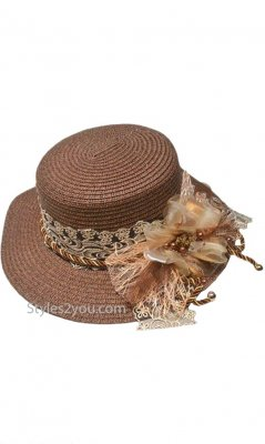 Andree Adjustable Size Vintage Reproduction Hat In Coffee