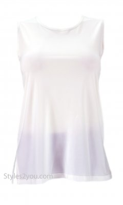 Crown Pretty Woman Plus Size Sleeveless Top Undershirt Ivory