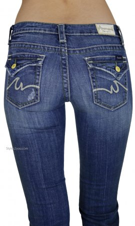 Joelle Boot Cut True Blue Trendy Urban Denim Jeans Anoname Jeans