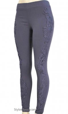Lucy Lacey Pant Legging In Gray My Pretty Angel Clothing