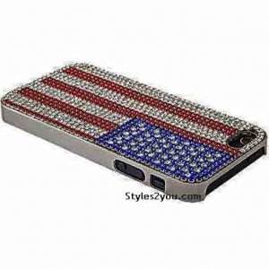 American Flag Made Of Swarovski Crystal iPhone 4 Cover