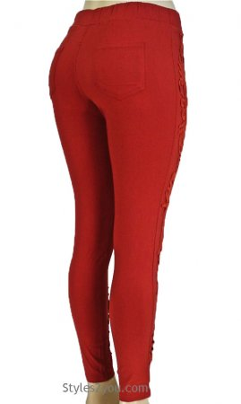 Lucy Lacey Pant Legging In Rust Pretty Angel Clothing Leggings
