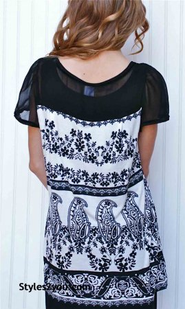 Vishalya Blouse In Black & White