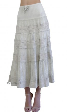 Celine Sleeveless Vintage Lace Dress OR Skirt In Cream