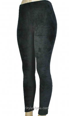 Regina Crushed Velvet Legging In Black